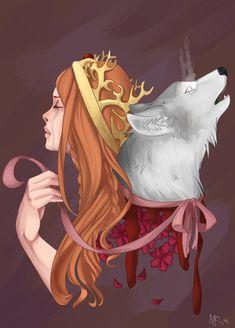 Sansa and Lady by Keirya.deviantart.com on @deviantART #got #agot #asoiaf
