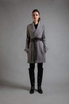 Swaddle Yourself in Cashmere | Cocoon Belted Coat