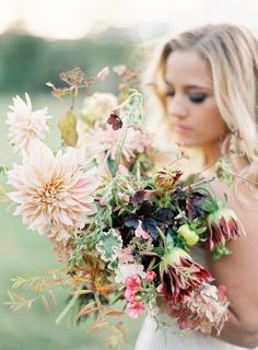 wild wedding bouquet, photo by Jen Huang Photography, flowers by Saipua http://ruffledblog.com/romantic-inspiration-froma-jen-huang-workshop