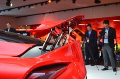 The Toyota FT-1 concept includes a retractable rear wing (Photo: C.C. Weiss/Gizmag)