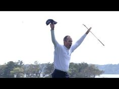 Matt Kuchar's Dramatic Hole Out Of Bunker For Birdie at 2014 RBC Heritage and WINS at Hilton Head. #PGA