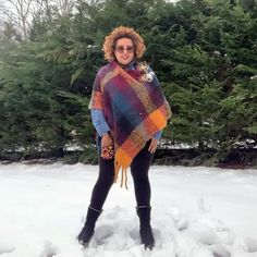 How to hide a belly with a poncho | 40plusstyle.com