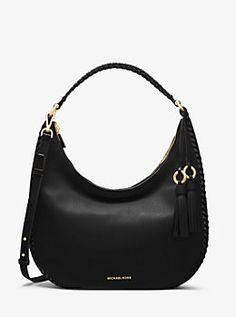 Lauryn Large Leather Shoulder Bag by Michael Kors