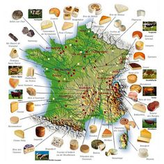 French cheese map.