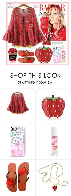 """""""Summer strawberry dreams"""" by natalyapril1976 on Polyvore featuring Casetify, IPANEMA and Kenneth Jay Lane"""