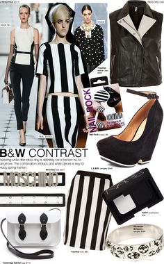 Trending: Black & White Contrast- black and white fashion trend. Spring 2013 fashion trends.