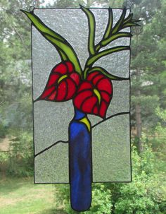 Stained Glass Anthurium Flower