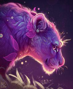 Mythical Creatures Art, Fantasy Creatures, Mythological Animals, Cute Animal Illustration, Animal Illustrations, Spirited Art, Dibujos Cute, Beautiful Fantasy Art, Mystique
