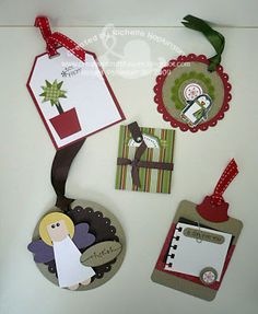 Creative Craft Fusions: STAMPIN UP CHRISTMAS GIFT TAGS