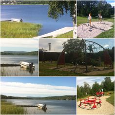 A place to swim and an outside gym and a playground just a stone's throw from my house!