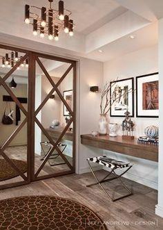 49 Ideas Mirror Closet Door Makeover Diy Spaces For 2019 Glass Closet Doors, Bedroom Closet Doors, Mirror Closet Doors, Mirror Door, Bedroom Wardrobe, Glass Doors, Mirrored Barn Doors, Diy Mirror, Entryway Closet
