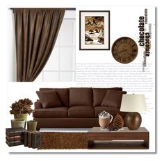 """I ♥ Chocolate"" by bliznec ❤ liked on Polyvore featuring interior, interiors, interior design, home, home decor, interior decorating, Chandra Rugs, Dot & Bo, Crate and Barrel and Howard Miller"