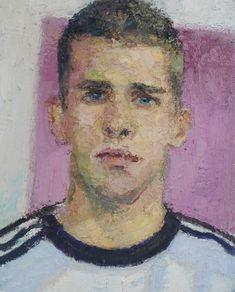 Yisrael Dror Hemed, Football Player, 2015, oil on canvas, 50x40 cm