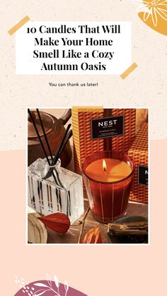 While fall doesn't technically start until September 21, we simply can't contain our excitement for the changing leaves, toasty beverages, and delicious seasonal scents. For that reason, we're firm believers that it's A-OK to start burning all the autumn-inspired scents ASAP. That's why we went ahead and rounded up our favorite fall candles to make your home smell like a cozy autumn oasis. You can thank us later! Classic Candles, Unique Candles, Pumpkin Candles, Fall Candles, Scented Candles, Candle Jars, Hygge Autumn, Yankee Candle Fall, Changing Leaves