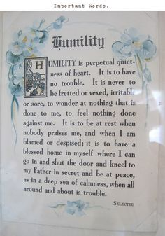 a beautiful definition of humility