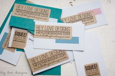 Decorate Business Cards With Washi Tape | Hey Love Designs