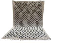 Oriental 7x10 Large Soft BERBER rug moroccan natural 100% wool hand woven kilim rug Tribal Berber vintage Moroccan Kilim Teppich kelim