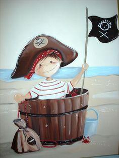 Tableau Pirate au bord de la mer