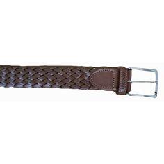 Cinturón trenzado en color marrón de Cencibel f0f49c13061d