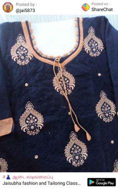 Churidhar Neck Designs, Salwar Neck Designs, Churidar Designs, Neck Designs For Suits, Dress Neck Designs, Gold Earrings Designs, Neck Pattern, Designer Earrings, Beauty Tips
