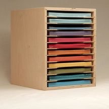 The 8.5x11 paper storage is another option for your paper storage needs. It keeps your smaller sheets of paper neatly organized and displayed for your access.
