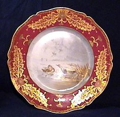 Haviland Limoges Game Plate with Gold Trim - Ducks | ArtfulScrapper - Collectibles on ArtFire
