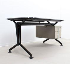 Olivetti Arco writing desk by Olivetti, 1960s