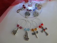 Outlander Inspired Wineglass Charms Set of 8 for by TheMagpizeNest