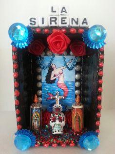 La Sirena Mexican Loteria Dia De Los Muerto Shrine