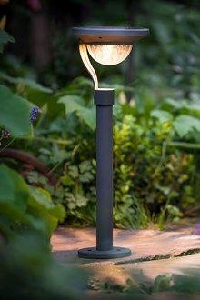 """Nouveau Set 2 luxform solaires en acier inox Post lights /""""Siena/"""" jardin d/'éclairage!"""