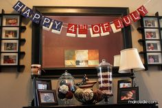 4th of July Decor Ideas  I did the bean flag apothecary jar this summer  it was so cute  simple
