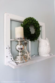 Shabby Chic Decor and Bedding Ideas - Window Shelf - Rustic and Romantic Vintage Bedroom, Living Room and Kitchen Country Cottage Furniture and Home Decor Ideas. Step by Step Tutorials and Instructions