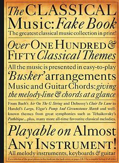Classical Music Fake Book