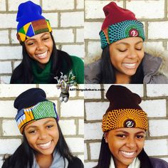 Winter Accessories: DpiperTwins Ankara Print Beanies ~African fashion, Ankara, kitenge, African women dresses, African prints, African men's fashion, Nigerian style, Ghanaian fashion ~DKK
