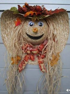 Check out this item in my Etsy shop https://www.etsy.com/listing/535063036/scarecrow-wreath