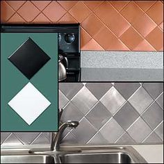 $14.98-$9.98 Baby Hide damaged walls with self-stick, tile covers. Give any area a whole new look. Durable, won't stain, crack or chip. Ideal in kitchen or bathroom. Square tiles cover surface, triangular tiles fill in edges in four handsome finishes. Cut to fit with scissors, no grout needed clean with soapy cloth. Square tile package covers three square feet, triangular one and a half square f ...