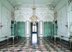Rococo Hall Entrance at Schloss Benrath.