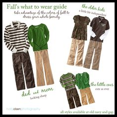 green and brown for fall family photos Hmm