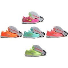 """50% OFF Popular 5 Pairs of Nike free run 3 for womens"" by meixiang on Polyvore"