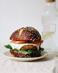 Almost forgot to share this Cajun Chickpea Cauliflower burgerhellip