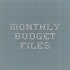 monthly budget files