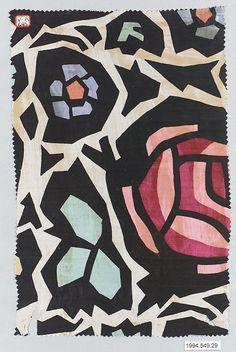 Textile sample,  unknown designer | Manufacturer: Wiener Werkstätte | Austria, 1910-1928 | The Metropolitan Museum of Art, New York