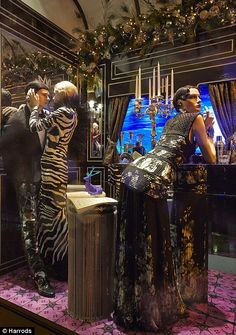 Harrods Christmas Window 2013 The Great Gatsby theme