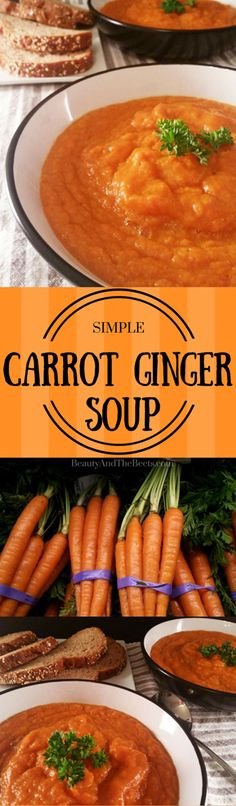 Carrot Ginger Soup by Beauty and the Beets #MeatlessMonday