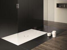 Plato de ducha a ras de suelo rectangular de acero esmaltado SCONA Colección Ambiente by Kaldewei Italia