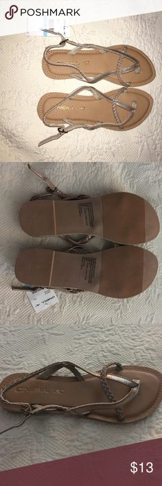 New never worn O'neill sandals New tan braided O'neill sandals O'Neill Shoes Sandals