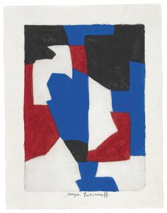 Serge Poliakoff, Composition abstraite, 1962