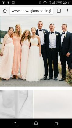 Fint brudepar og forlover bilde