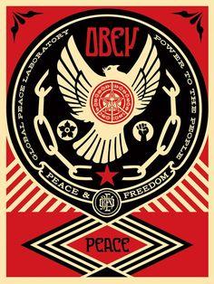 Peace-Freedom-Dove Shepard Fairey 2014