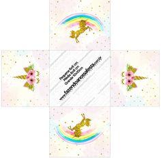 Girl Birthday Themes, Kids Party Themes, Unicorn Birthday Parties, Unicorn Party, Birthday Party Decorations, Unicorn Printables, Free Printables, Photo Booth Kit, Baby Boy Cards